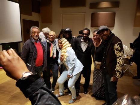 Graziano con artisti presenti nel film