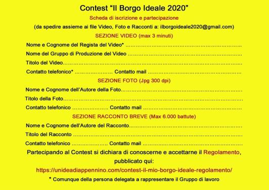 Volantino Scheda Contest